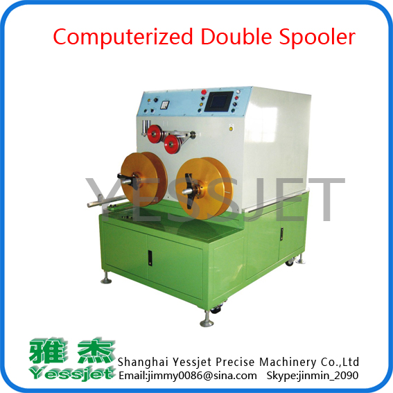 Double shaft  spooler
