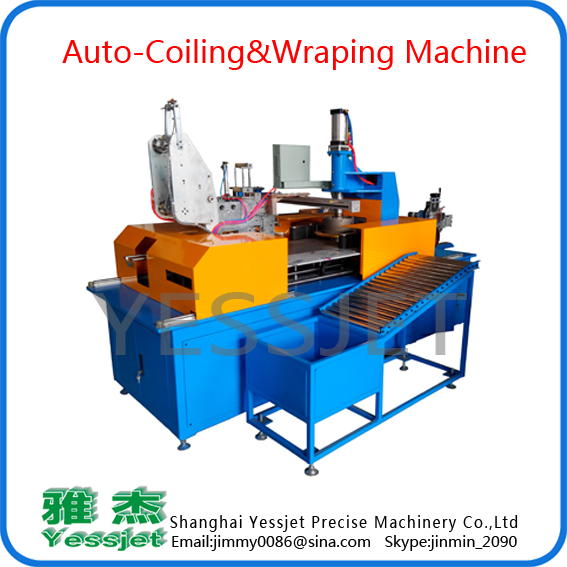Auto coiling&wraping machine 2in1